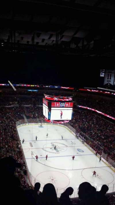 Verizon Center, section: 424, row: p, seat: 10