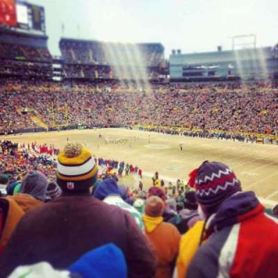Lambeau Field section 109