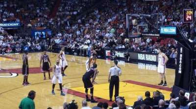 American Airlines Arena, section: 102, row: 13, seat: 1