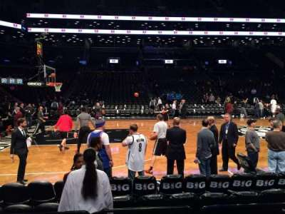 Barclays Center, section: 9, row: 2, seat: 7