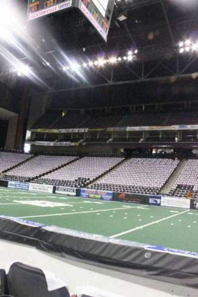 Jacksonville Veterans Memorial Arena, section: 113, row: B, seat: 6