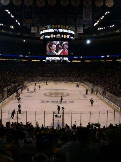 TD Garden section Loge 18