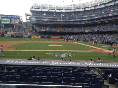 Yankee Stadium, section: 123, row: 1