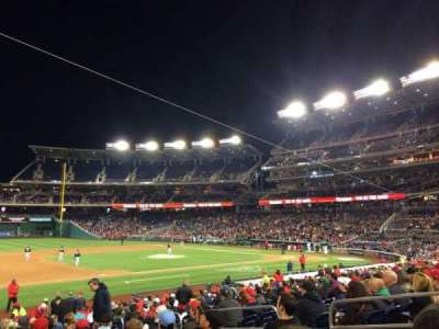 Nationals Park, section: 114, row: Z, seat: 8