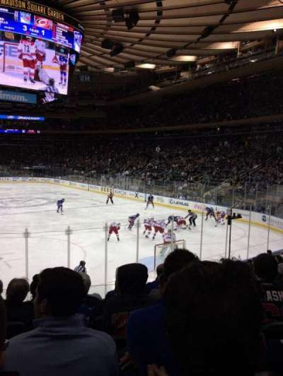 Madison Square Garden, section: 111, row: 11, seat: 11