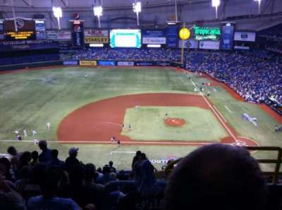 Tropicana Field, section: 311, row: Q, seat: 23