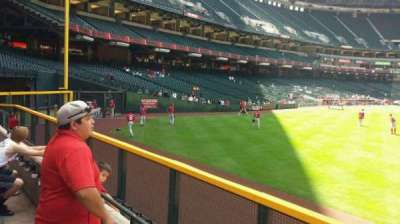 Chase Field, section: 102, row: 1
