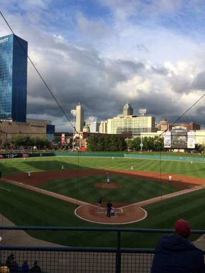 Victory Field, section: 210, row: D, seat: 9