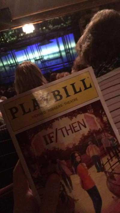 Richard Rodgers Theatre, section: Orchestra - Right of Center: S, row: V, seat: 14