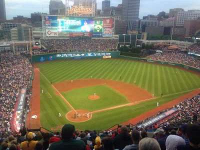 Progressive Field, section: 552, row: R, seat: 13