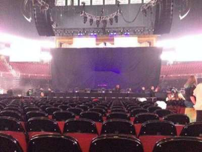 Prudential Center, section: E, row: 1, seat: 3