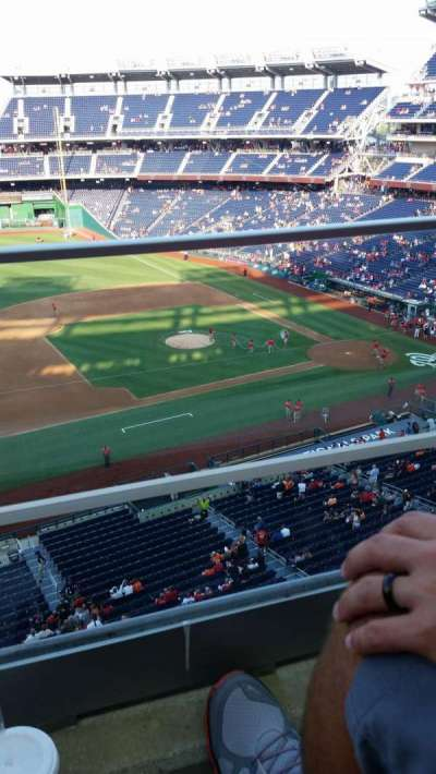 Nationals Park, section: 307, row: A, seat: 19