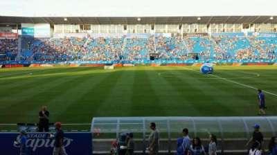 Saputo Stadium, section: 107, row: K, seat: 10