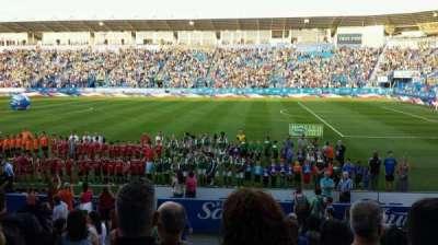 Saputo Stadium, section: 102, row: M, seat: 15