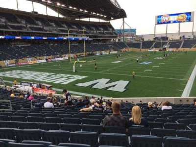 Investors Group Field, section: 116, row: 22, seat: 18