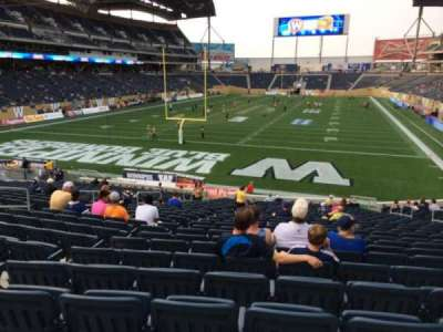 Investors Group Field, section: 117, row: 26, seat: 13