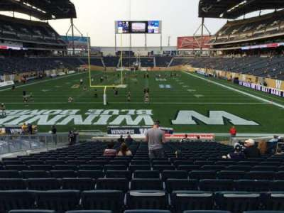 Investors Group Field, section: 118, row: 23, seat: 10