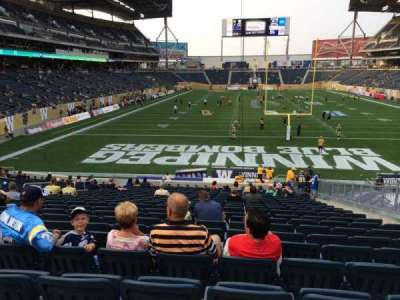 Investors Group Field, section: 119, row: 24, seat: 10