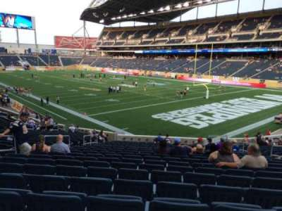 Investors Group Field, section: 122, row: 25, seat: 10