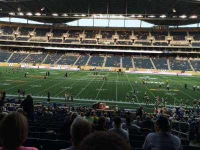 Investors Group Field, section: 129, row: 27, seat: 4