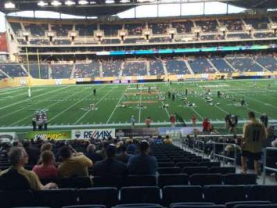 Investors Group Field, section: 132, row: 23, seat: 4