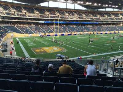 Investors Group Field, section: 136, row: 24, seat: 9