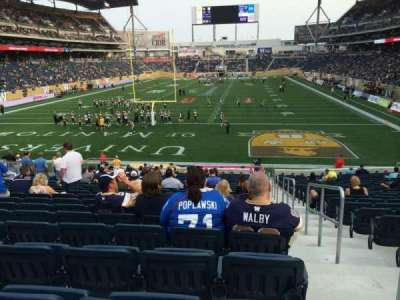 Investors Group Field, section: 140, row: 24, seat: 1