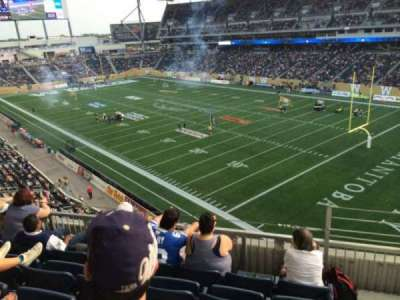 Investors Group Field, section: 202, row: 5, seat: 1