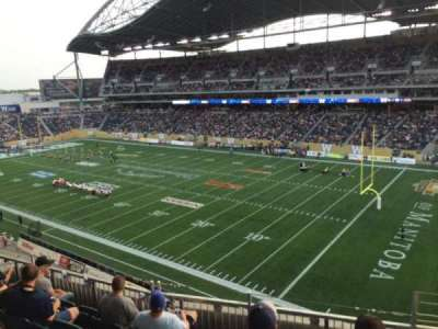 Investors Group Field, section: 203, row: 6, seat: 1