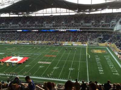 Investors Group Field, section: 205, row: 18, seat: 20
