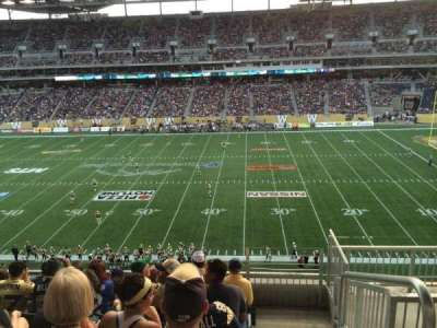 Investors Group Field, section: 207, row: 6, seat: 1