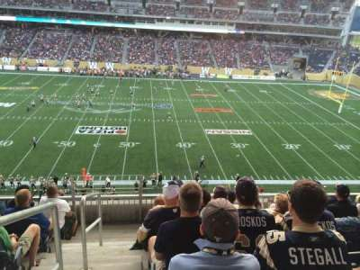 Investors Group Field, section: 207, row: 6, seat: 19