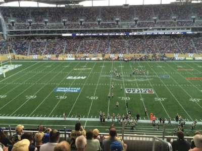 Investors Group Field, section: 209, row: 6, seat: 1