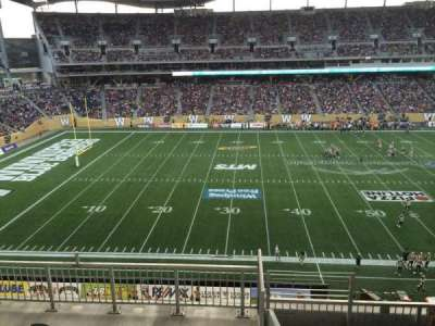Investors Group Field, section: 210, row: 6, seat: 1