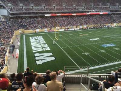 Investors Group Field, section: 214, row: 6, seat: 1