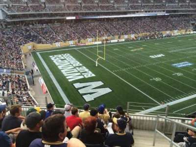 Investors Group Field, section: 215, row: 14, seat: 1