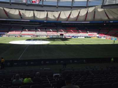 BC Place, section: 341, row: L, seat: 9