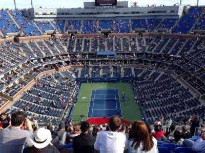 Arthur Ashe Stadium, section: 321, row: T, seat: 9