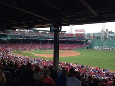 Fenway Park Section Grandstand 8 Row 12 Seat 26