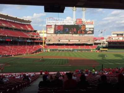 Great American Ball Park, section: 130, row: UU, seat: 17