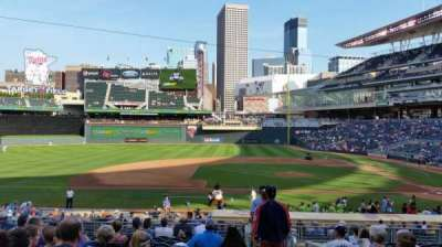 Target Field, section: 120, row: 13, seat: 1