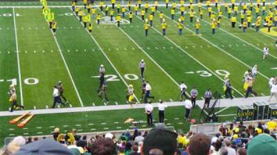 Autzen Stadium, section: 13, row: 58, seat: 20