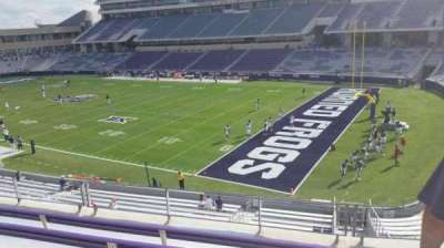 Amon G. Carter Stadium, section: 230, row: E, seat: 1