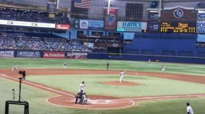 Tropicana Field, section: 104, row: Y, seat: 2