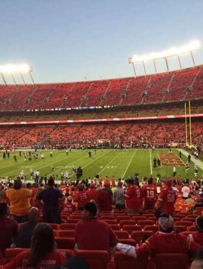 Arrowhead Stadium, section: 116, row: 29, seat: 8