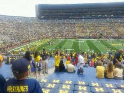 Michigan Stadium, section: 27, row: 47, seat: 16