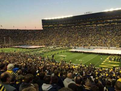 Michigan Stadium, section: 18, row: 49, seat: 1