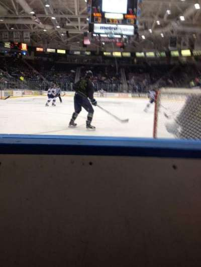 Germain Arena, section: 106, row: 1, seat: 11