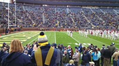 Michigan Stadium, section: 4, row: 2, seat: 9