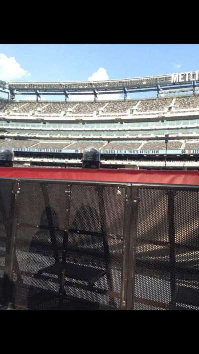 MetLife Stadium, section: 9, row: 7, seat: 40
